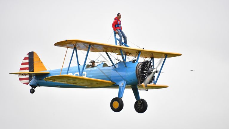 Peter McCleave said he hadn't 'felt this alive for years' after completing the wingwalk