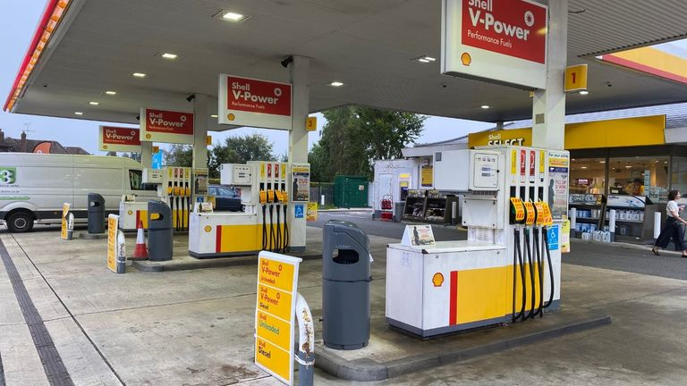 Every fuel pump was closed at a Shell petrol station in High Wycombe on Saturday morning