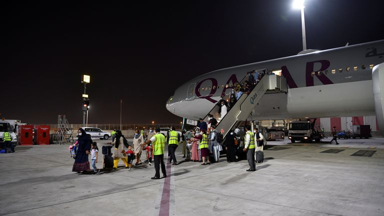 First civilian flight from Afghanistan since evacuation arrives in Qatar