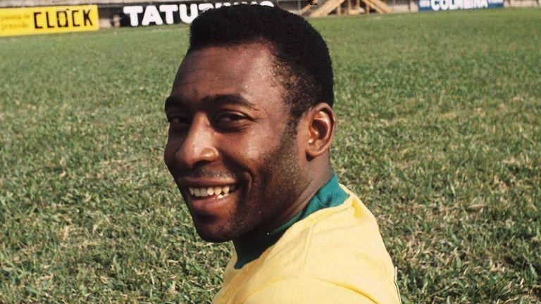 Pelé Football Brésilien Vers 1970