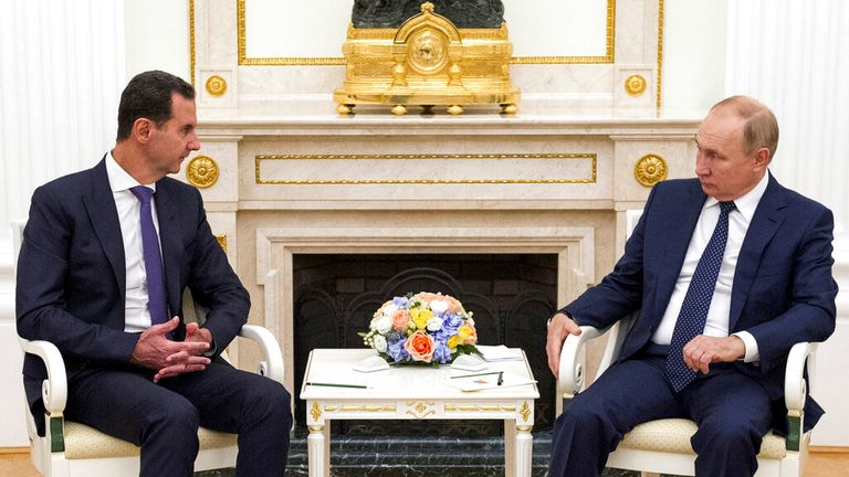 It was their first meeting in the Russian capital for six years. Pic: AP