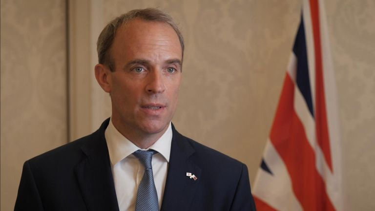 Afghanistan: Raab lays out 'opportunities' for further evacuations