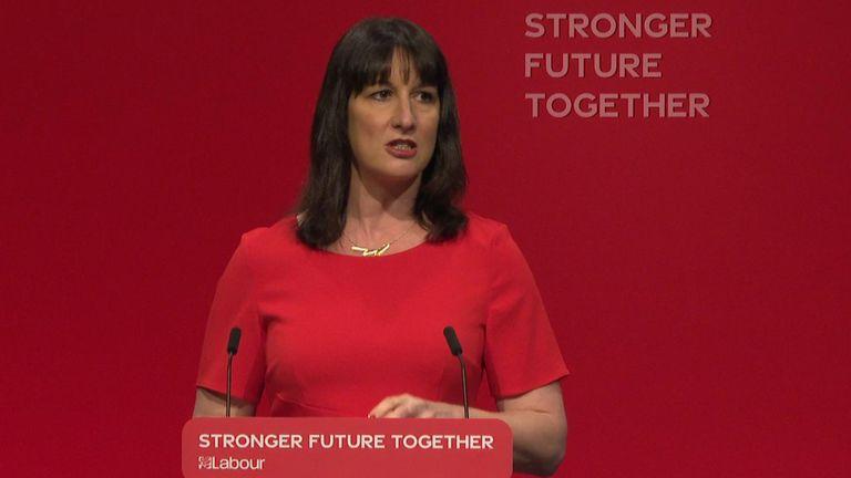 Shadow chancellor Rachel Reeves MP