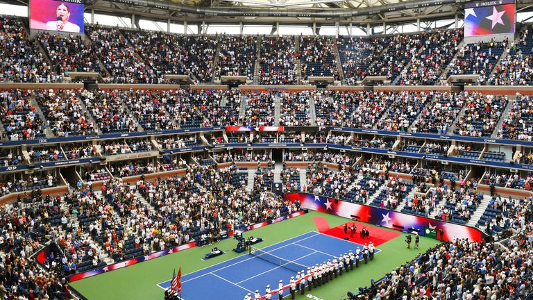 11 September, women's singles final at the US Open in New York. Pic: AP