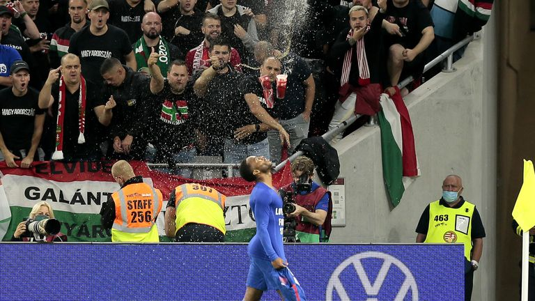 Raheem Sterling was abused by the crowd in Budapest