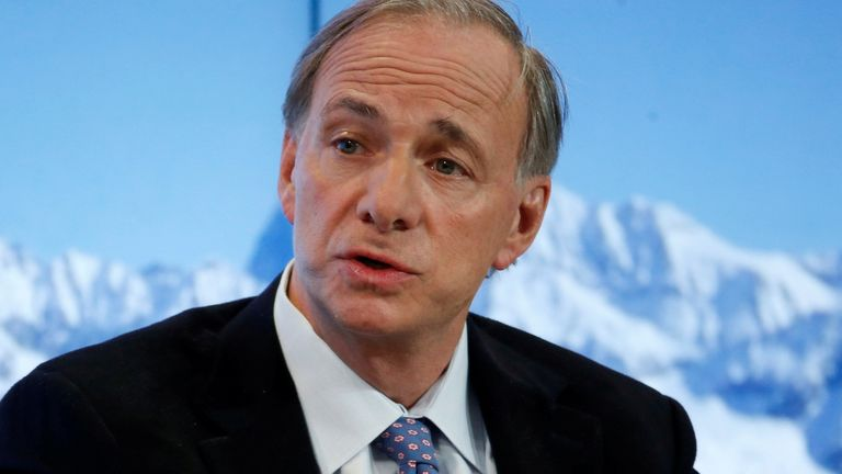 Ray Dalio, Founder, Co-Chief Executive Officer and Co-Chief Investment Officer, Bridgewater Associates attends the annual meeting of the World Economic Forum (WEF) in Davos, Switzerland, January 18, 2017