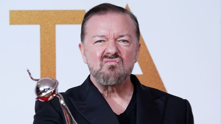 After Life, written by Ricky Gervais, bagged the comedy award