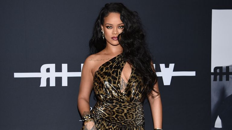 """Singer and fashion designer Rihanna attends the """"Rihanna"""" book launch event at the Guggenheim Museum on Friday, Oct. 11, 2019, in New York. (Photo by Evan Agostini/Invision/AP)"""
