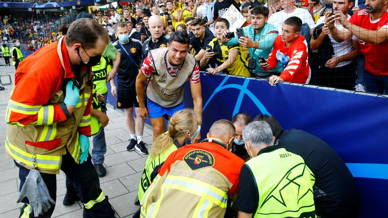 Ronaldo gave the steward one of his shirts after the match