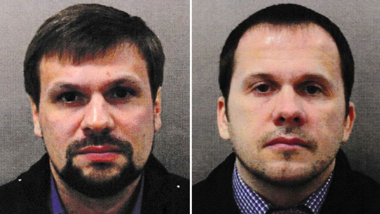 Ruslan Boshirov (left) and Alexander Petrov (right) were charged in absentia over the Salisbury poisonings