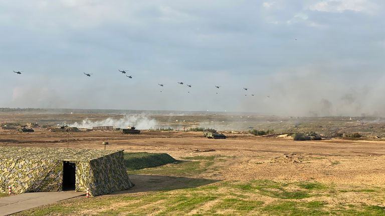 This showpiece 45 minutes is part of possibly the largest military exercises up on NATO's eastern flank since the end of the Cold War
