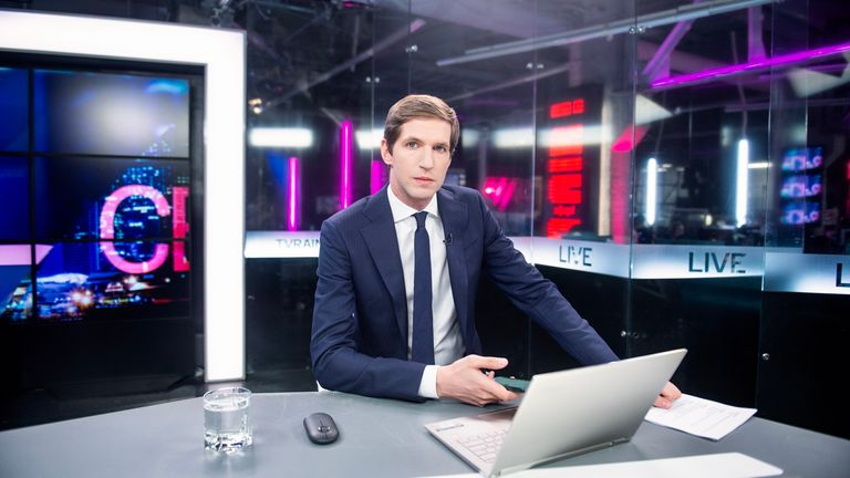 Tikhon Dzyadko, TV Dozd editor in chief. Pic: Denis Kaminev/Dozhd TV