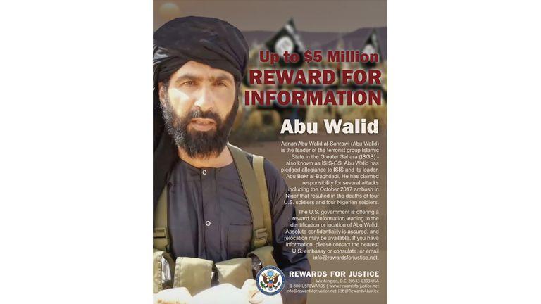 Les États-Unis avaient auparavant offert une récompense pour des informations sur al Sahraoui.  Photo: AP
