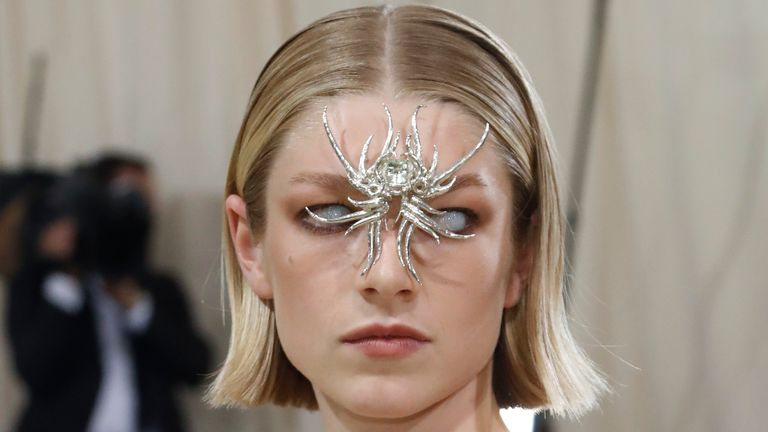 Metropolitan Museum of Art Costume Institute Gala - Met Gala - In America: A Lexicon of Fashion - Arrivals - New York City, U.S. - September 13, 2021. Hunter Schafer. REUTERS/Mario Anzuoni