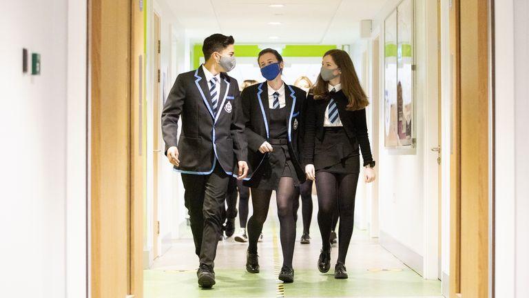 Schools in Scotland reopened last month