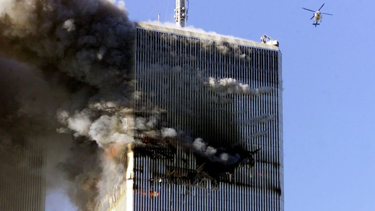 The first hijacked plane hit the North Tower of the World Trade Center