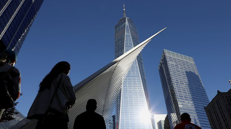 People pay their respects on the 20th anniversary of 9/11