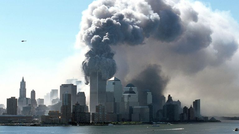 It has been 20 years since the 9/11 attacks. Pic: AP