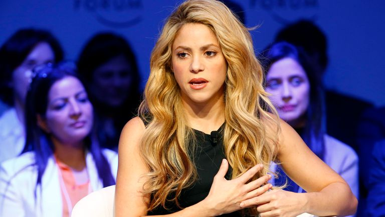 Singer and UNICEF Ambassador Shakira attends the annual meeting of the World Economic Forum (WEF) in Davos, Switzerland, January 17, 2017. REUTERS/Ruben Sprich