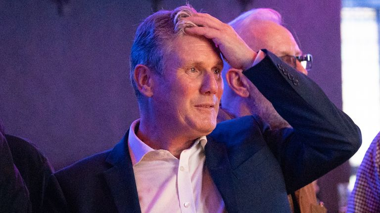 Labour Party leader Sir Keir Starmer watches the Arsenal v Tottenham Hotspur match at The Font pub in Brighton. Picture date: Sunday September 26, 2021.