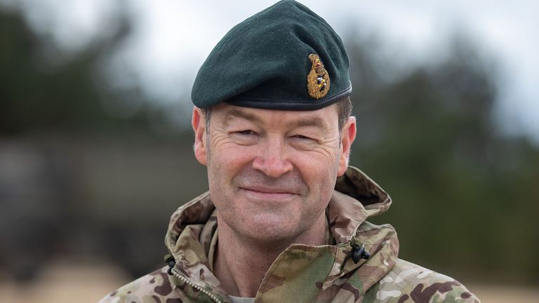 Commander of Strategic Command, General Sir Patrick Sanders after a live exercise demonstration at Bovington Camp in Dorset. Picture date: