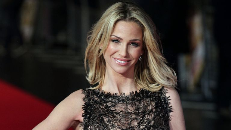 Sarah Harding arriving for the UK film premiere of Run For Your Wife, at the Odeon Leicester Square