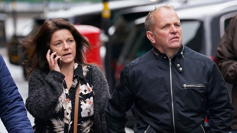"""Simon Silwood arriving at Birmingham Magistrates' Court where he was jailed for eight weeks for sending an offensive message to the West Bromwich Albion midfielder, Romaine Sawyers. Picture date: Thursday September 30, 2021. The West Bromwich Albion fan, was found guilty of racially abusing the midfielder on social media when he suggested the player should win the """"Baboon d'Or"""". See PA story COURTS Sawyers. Photo credit should read: Jacob King/PA Wire"""