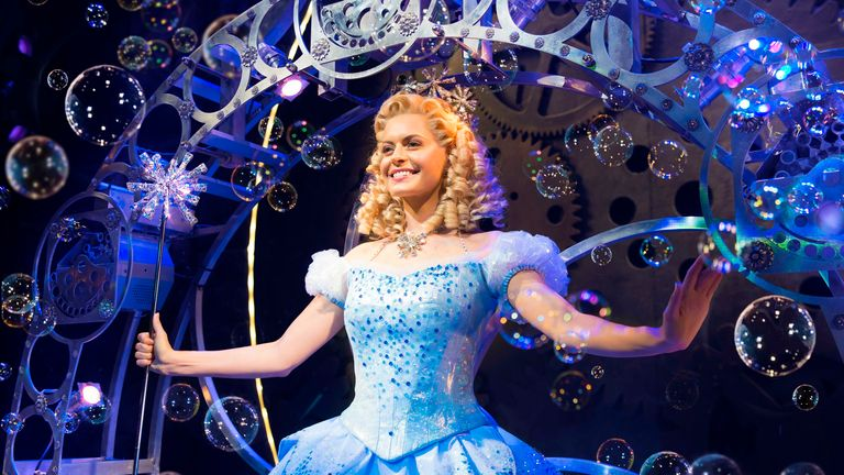 Sophie Evans (Glinda) says being in the show is a dream come true. Pic: Matt Crocket