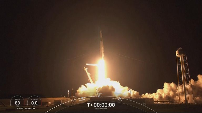 the mission lifted off from Kennedy Space Centre in Florida