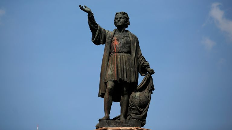 The statue of Christopher Columbus overlooked a prominent area in Mexico City - but will now be relocated