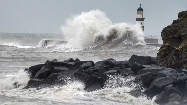 Giant waves at Seaham in County Durham, as the bad weather continues, even after Storm Francis has moved on. Read less Picture by: Owen Humphreys/PA Archive/PA Images
