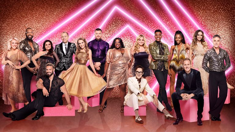 The cast of this year's show. Pic: BBC/Ray Burmiston