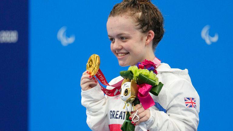 Maisie Summers-Newton had a stellar Paralympics debut. Pic: AP
