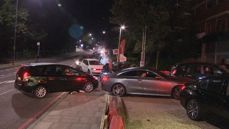 Dozens of vehicles were seen waiting in line at fuel stations in London amid warnings from the government to not panic buy fuel.