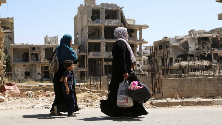 Deraa al Balaad in September 2021: Much of Syria has been devastated by the war