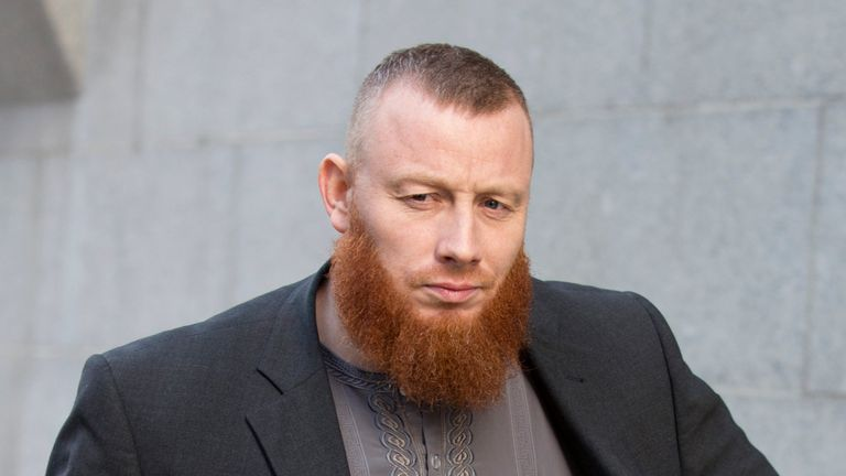 Muslim convert Ibrahim Anderson, from Luton in Bedfordshire, pictured outside the Old Bailey in 2016.