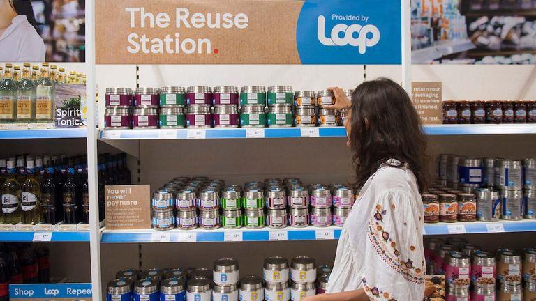 Tesco reusable packaging trial Pic: Tesco