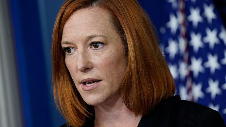 White House Press Secretary Jen Psaki responds to questions about the border patrol photos