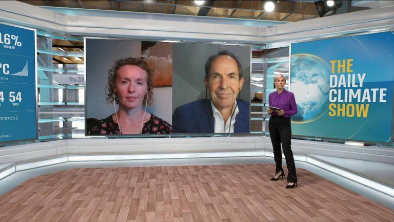 Anna Jones hosting the Daily Climate Show.