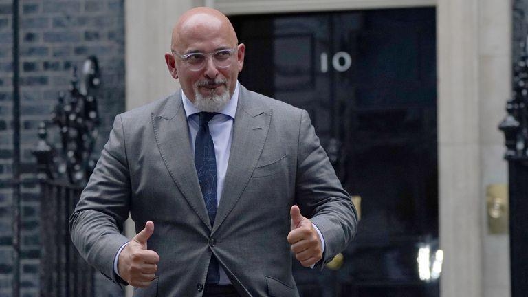 Nadhim Zahawi quitte le 10 Downing Street, à Londres, après avoir été nommé nouveau secrétaire à l'Éducation alors que le Premier ministre Boris Johnson remanie son Cabinet.  Photo date : mercredi 15 septembre 2021.