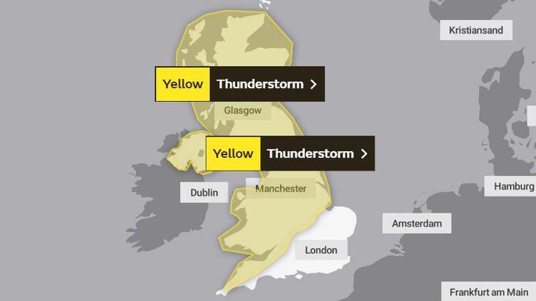Thunderstorm warning