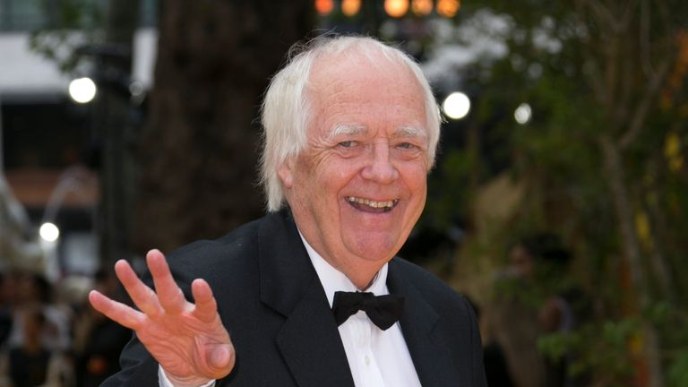 Sir  Tim RIce poses for photographers upon arrival at the 'Lion King' European premiere in central London, Sunday, July 14, 2019. (Photo by Joel C Ryan/Invision/AP)