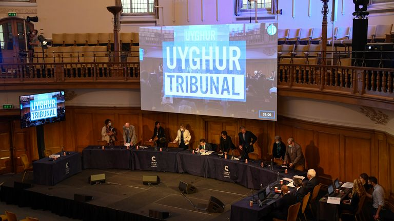 The Uighur Tribunal is due to start again, after a first hearing in June. Pic: AP