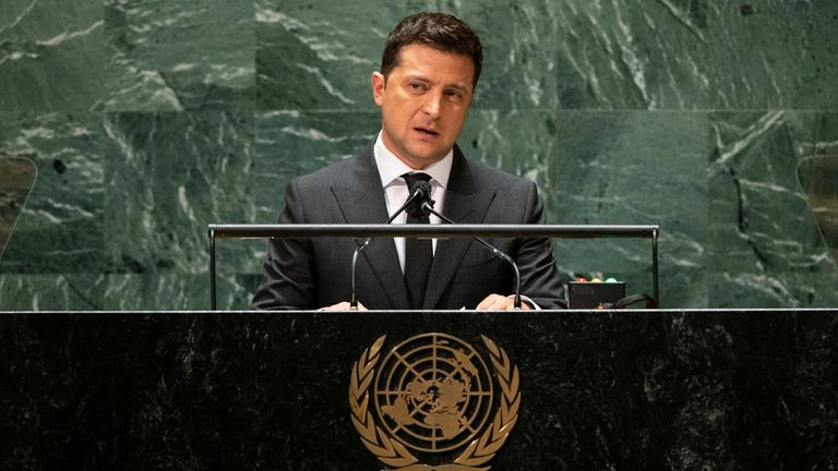 Mr Zelenskiy addressed the 76th Session of the U.N. General Assembly in New York City this week while the assassination attempt took place 12 miles south of Kiev