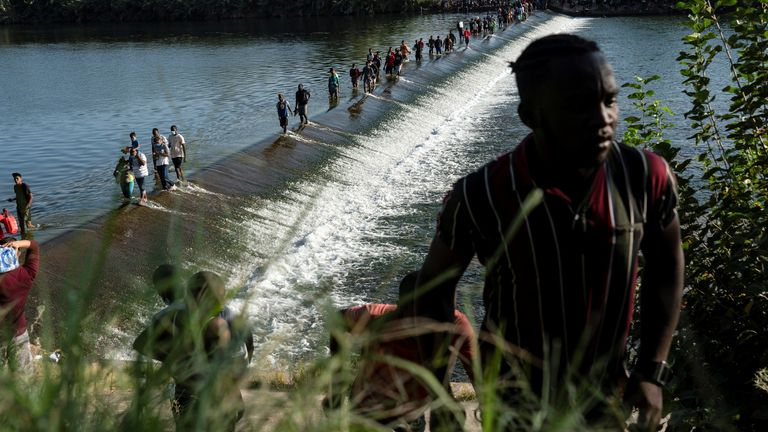 Del Rio's Mayor Bruno Lozano said 10,503 migrants were under the bridge on Thurday evening