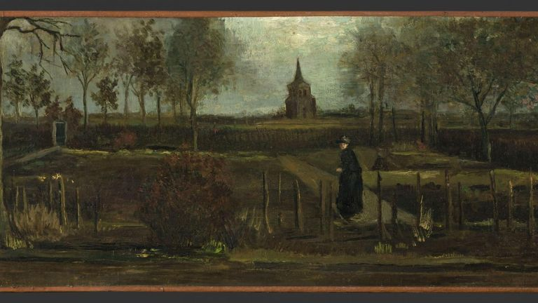 The Parsonage Garden at Nuenen in Spring 1884 by Vincent van Gogh was stolen from a museum in Amsterdam. Pic Groninger Museum