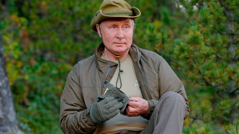 Mr Putin visited the Primorye and the Amur Region of the Russian Far East earlier this month Pic: AP