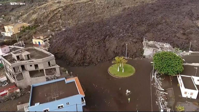 Lava on La Palma