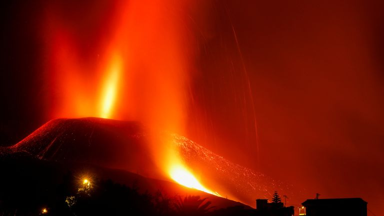 The volcano eruption has destroyed hundreds of homes