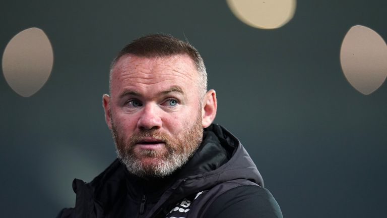 Derby County are managed by Wayne Rooney